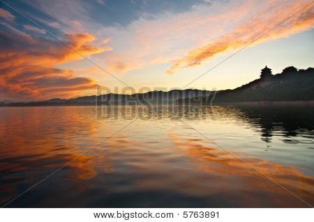 Summer Palace sunset