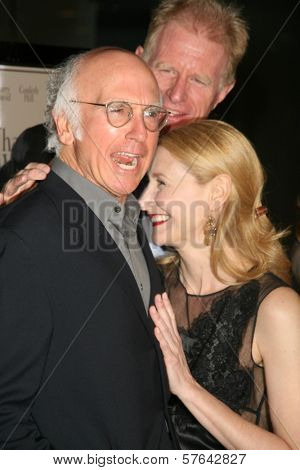 Larry David with Ed Begley Jr and Patricia Clarkson at the Los Angeles Premiere of 'Whatever Works'. Pacific Design Center, West Hollywood, CA. 06-08-09