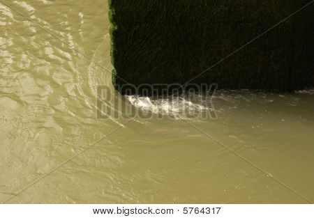 Tide Worn Stone Bridge Buttress