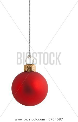 Plain Red Christmas Bauble