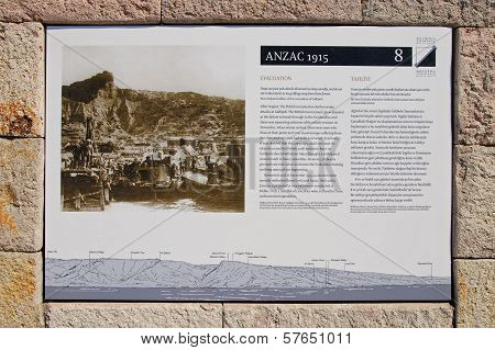 Anzac Cove Memorial In Turkey