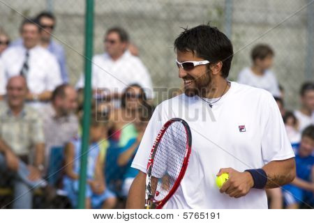 Banja Luka - June 9 - Davis Cup Selection Members Nenad Zimonjic And Janko Tipsarevic Play Friendly