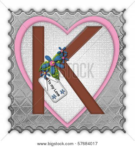 Alphabet Chocolate Box K