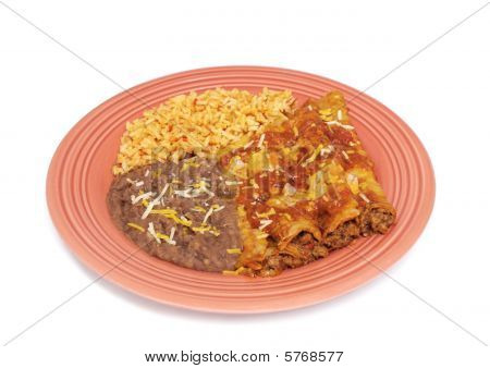 Enchilada Dinner - Mexican Food