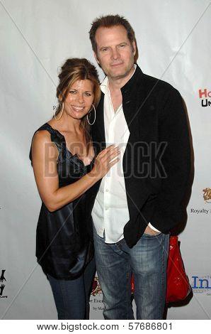 Beth Toussaint and Jack Coleman at the Hollyshorts Haiti Charity VIP Webisode Celebration. Kress, Hollywood, CA. 08-08-09