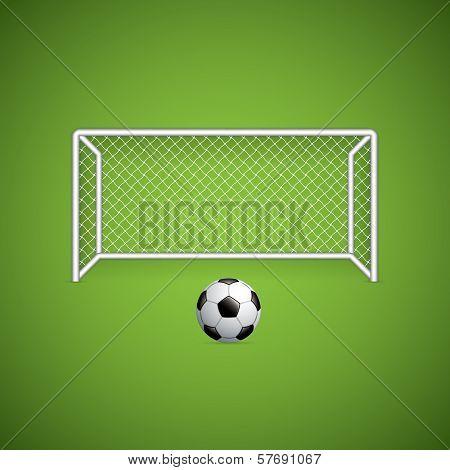 Soccer Goal And Ball