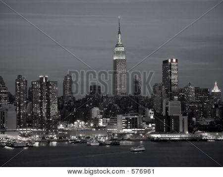 New York Skyline Bw