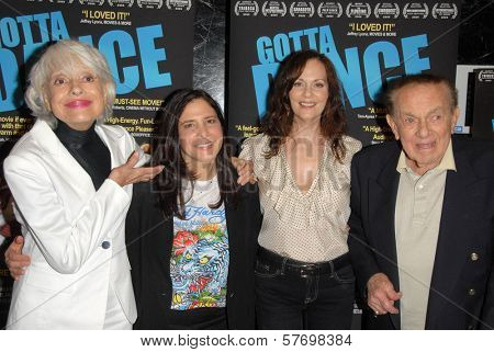 Carol Channing and Dori Berinstein with Lesley Ann Warren and Jack Carter  at the Los Angeles Premiere of 'Gotta Dance'. Linwood Dunn Theatre, Hollywood, CA. 08-13-09