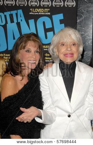 Kate Linder and Carol Channing  at the Los Angeles Premiere of 'Gotta Dance'. Linwood Dunn Theatre, Hollywood, CA. 08-13-09