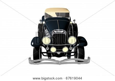 Convertible Oltimer Isolated