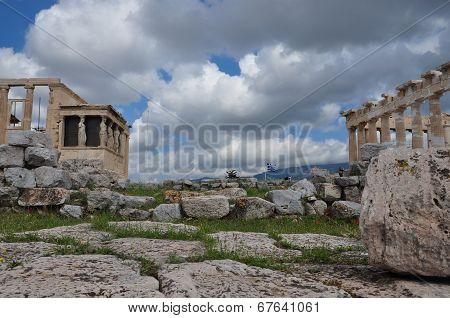 Parthenon And Erechtheion