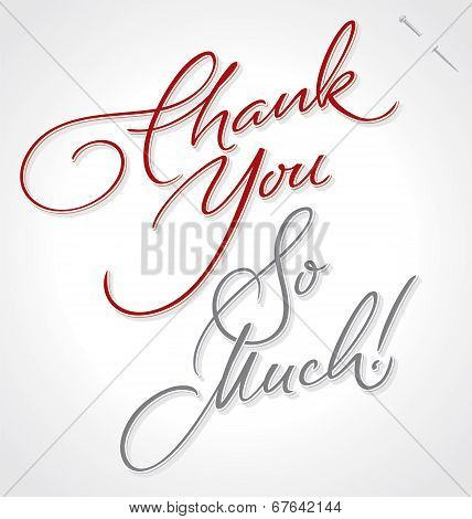 THANK YOU SO MUCH hand lettering (vector)