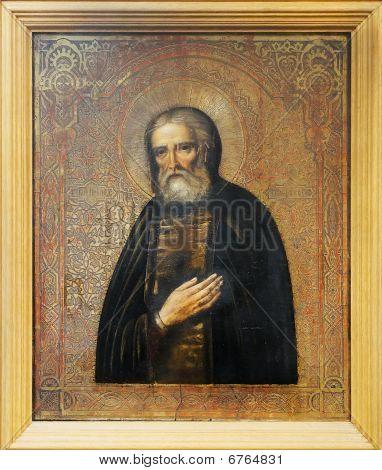 Russian Icon Of Seraphim Of Sarov