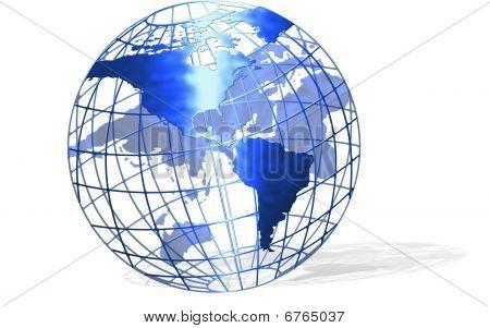 Globe With Shadow