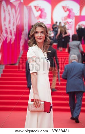 MOSCOW - JUNE, 19: Russian actress S. Ivanova, 36th Moscow International Film Festival. Opening Ceremony at Pushkinsky Cinema . June 19, 2014 in Moscow, Russia