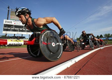 Wheelchair Track Male Athletes Race