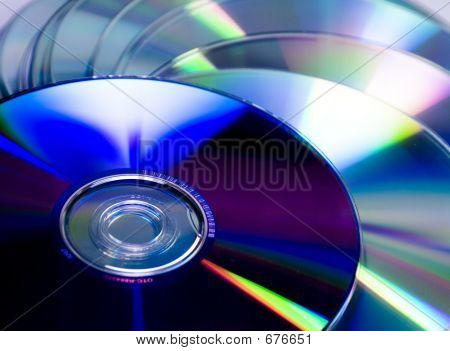 Cd And Dvd Pile