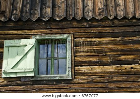 Detail Of Rustic House