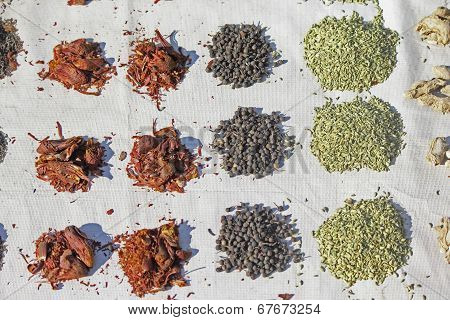 Spices For Sale At Market