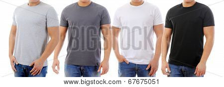 t-shirt on a young man