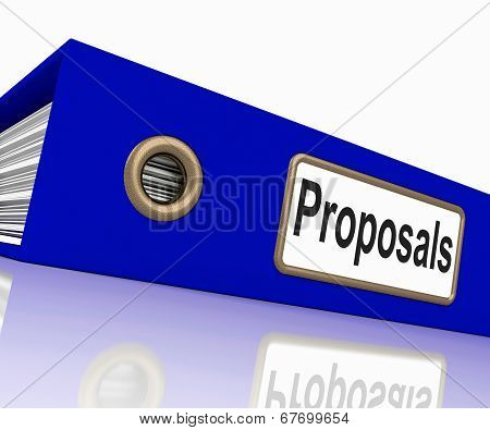 File Proposals Represents Game Plan And Activity