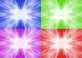 Blue purple green and red flash background poster