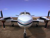 nose of a Cessna Conquest II poster