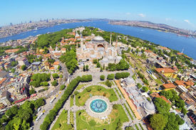 Aerial shot of Old Istanbul
