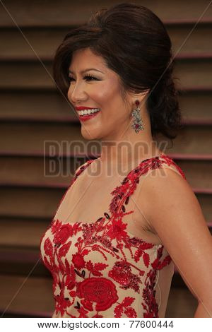 LOS ANGELES - MAR 2:  Julie Chen at the 2014 Vanity Fair Oscar Party at the Sunset Boulevard on March 2, 2014 in West Hollywood, CA