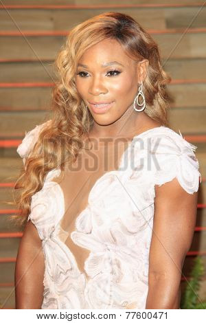 LOS ANGELES - MAR 2:  Serena Williams at the 2014 Vanity Fair Oscar Party at the Sunset Boulevard on March 2, 2014 in West Hollywood, CA
