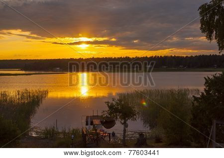 Midsummer Sunset