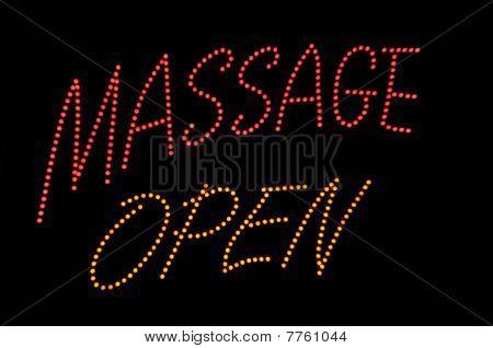 Massage Open Neon Sign