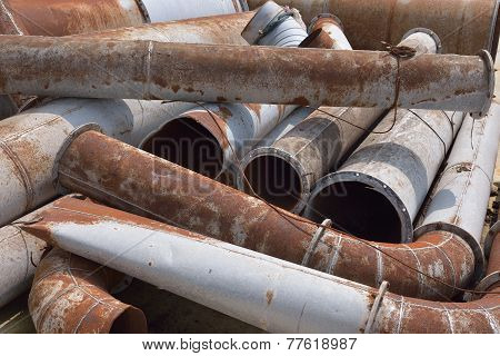 Rusty Metal Pipes