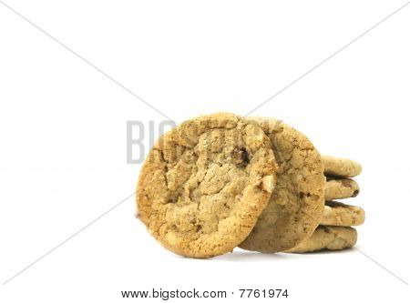 Cookies on white