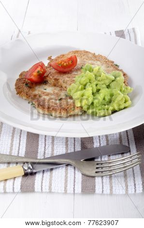 Potato Pancake With Mushy Pea