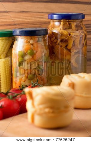Preserved Vegetable And Mushrooms