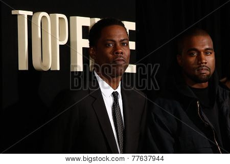 NEW YORK-DEC 3: Comedian/actor Chris Rock and rapper Kanye West attend the