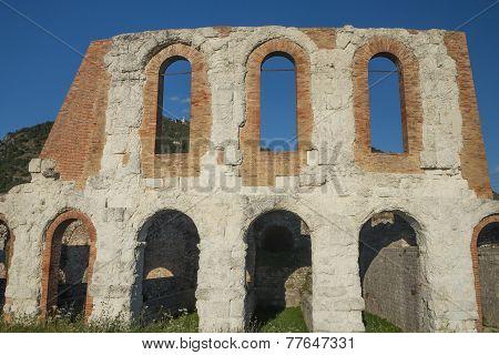 Old Roman  Amphitheater In Gubbio (umbria, Italy)