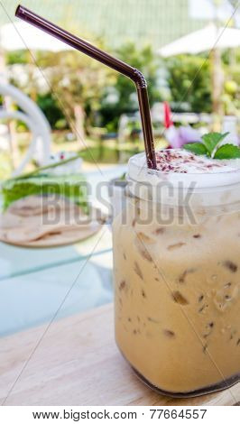 Cold Fresh Ice Capuchino Coffee