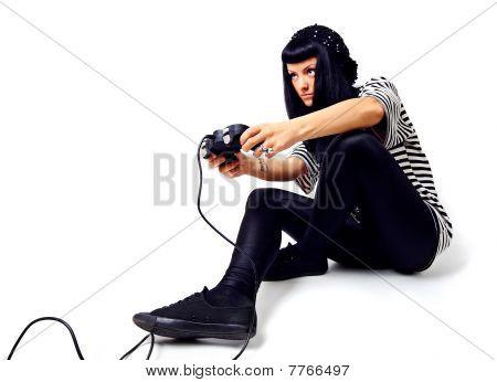 Girl With A Joystick