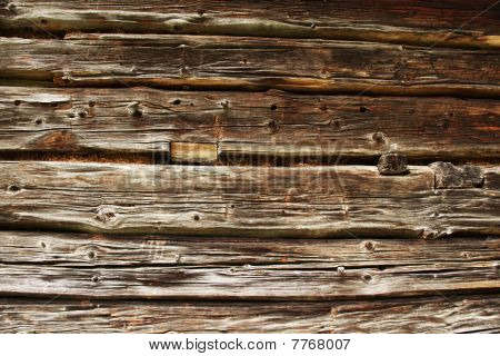 Traditional Log Home Wall