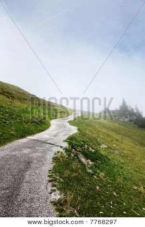 Path Road Up Hill Into Mountain