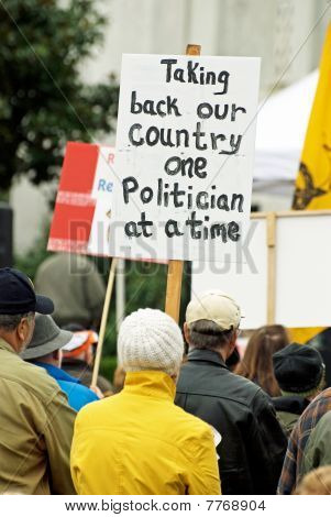 Tea Party protest sign.
