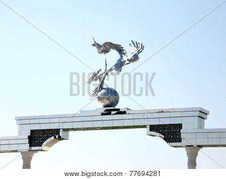 Tashkent Ezgulik Arch On Independence Square 2007