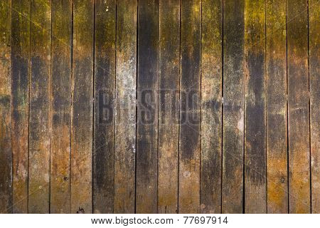 abstract background texture of decay wood on old cottage wall surface poster