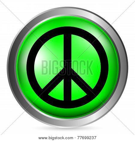 Peace Symbol Buttom