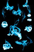 Abstract ink background flow in water on a black background. poster