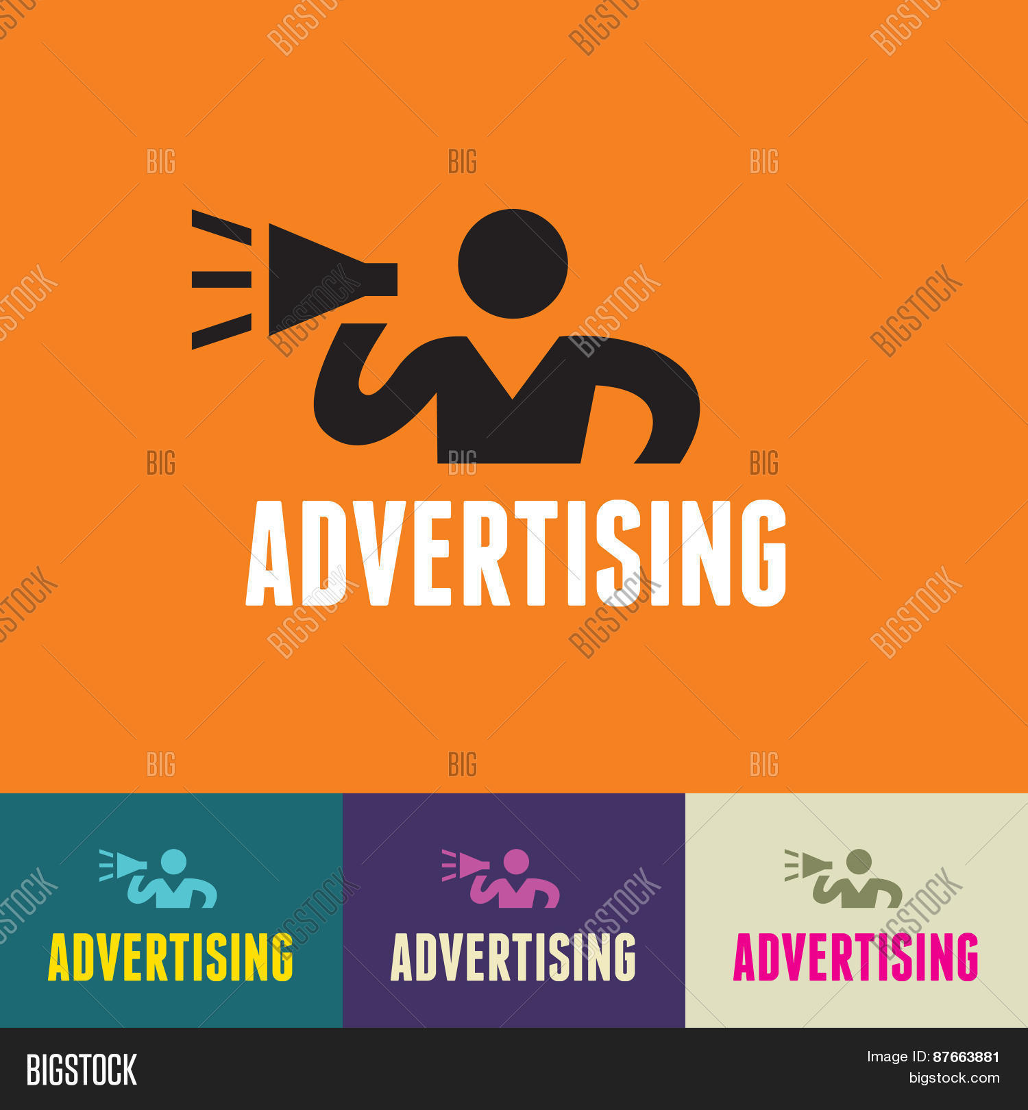Advertising Sign - Vector & Photo (Free Trial) | Bigstock
