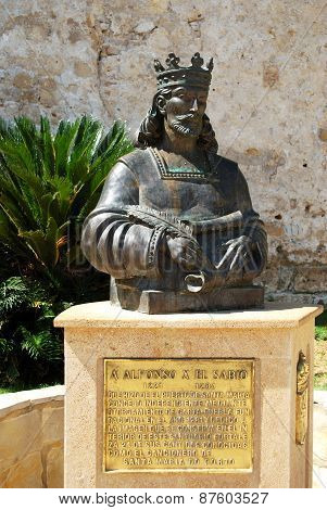 Alfonso X statue, El Puerto de Santa Maria.