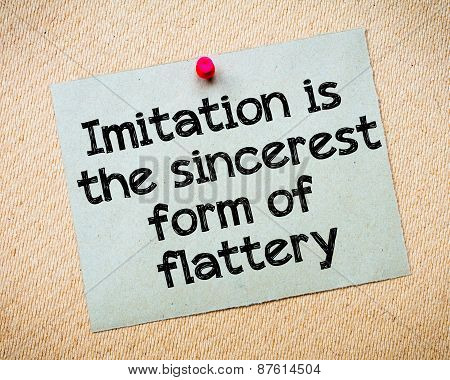 Imitation Is The Sincere Form Of Flattery